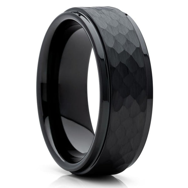 Black Tungsten Ring - Black Tungsten - Tungsten Wedding Ring - Black Band - Clean Casting Jewelry
