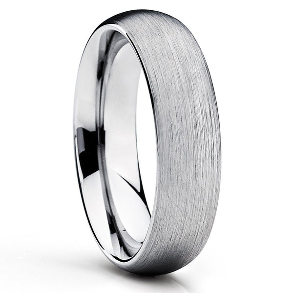 cobalt wedding band silver cobalt ring cobalt chrome rings brush - Cobalt Wedding Rings