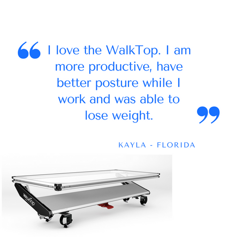 Improved Productivity using the WalkTop Treadmill Desk
