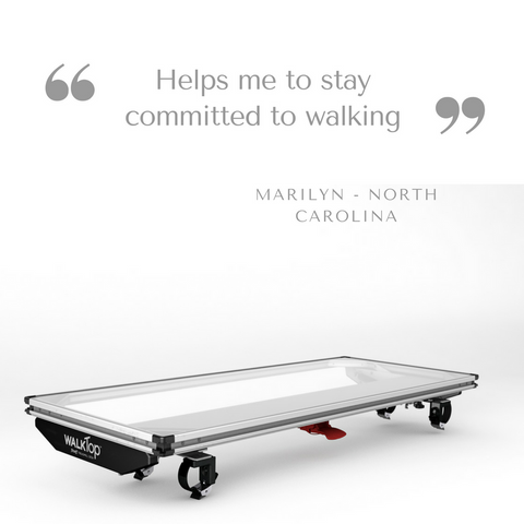 Committed to walking using my WalkTop Treadmill Desk