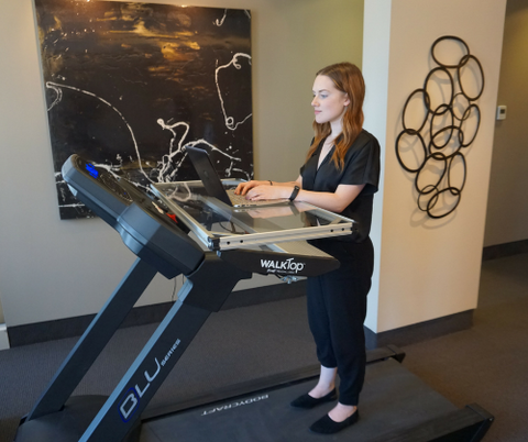 WalkTop Treadmill Desk as a standing desk