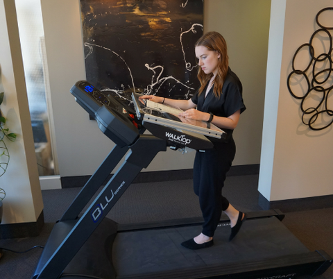 walk and work with the WalkTop Treadmill Desk