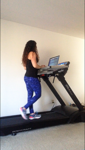 Carrie Groff on Fitneff Treadmill Desk - The WalkTop