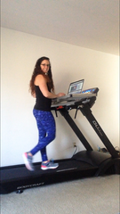 Carrie Groff on WalkTop Treadmill Desk