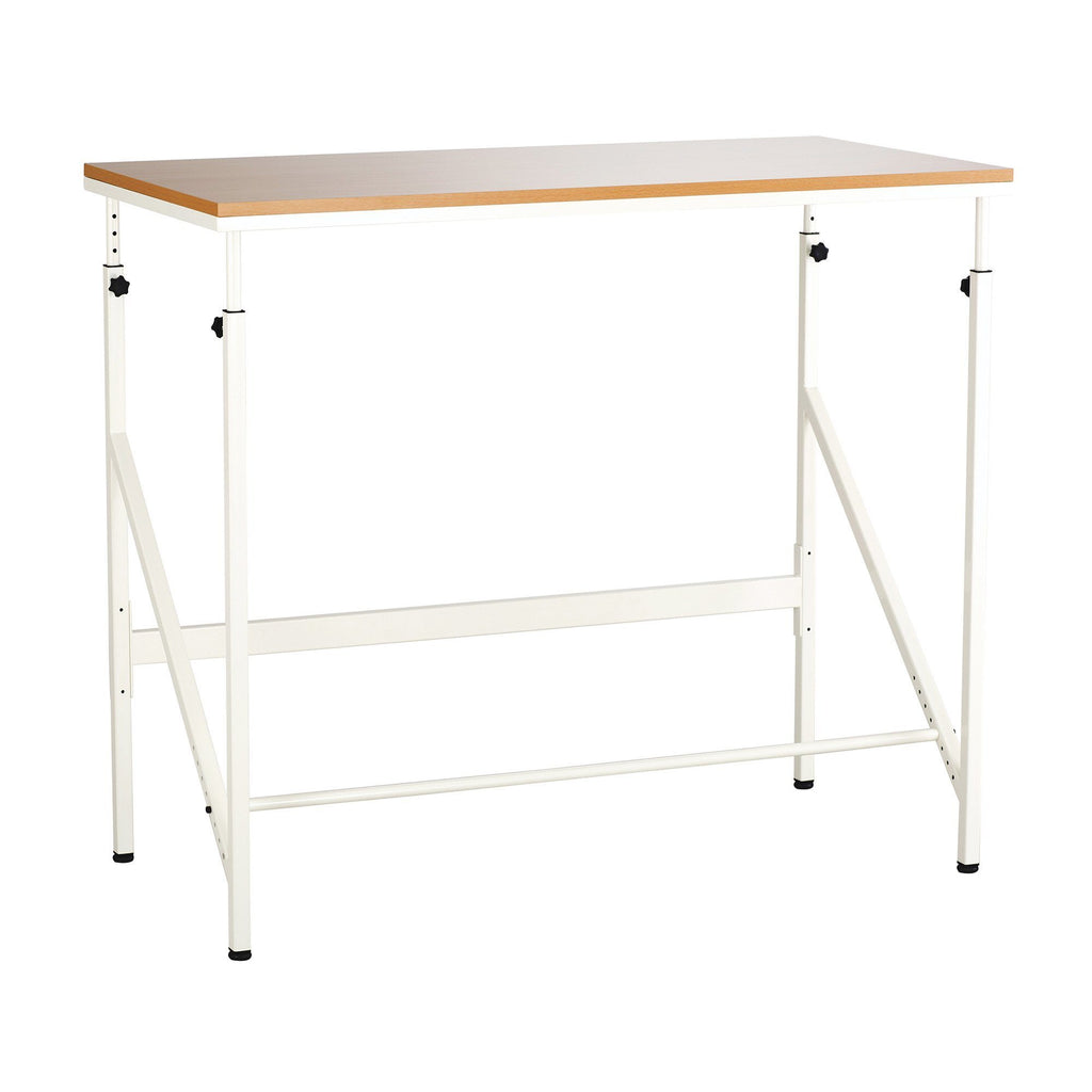 Elevate™ Standing-Height Desk Cream and Beech Active Office by Fitneff United States