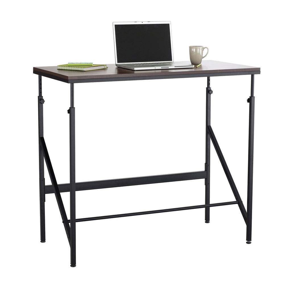 Safco Elevate™ Standing-Height Desk Black and Walnut Active Desk - Fitneff United States