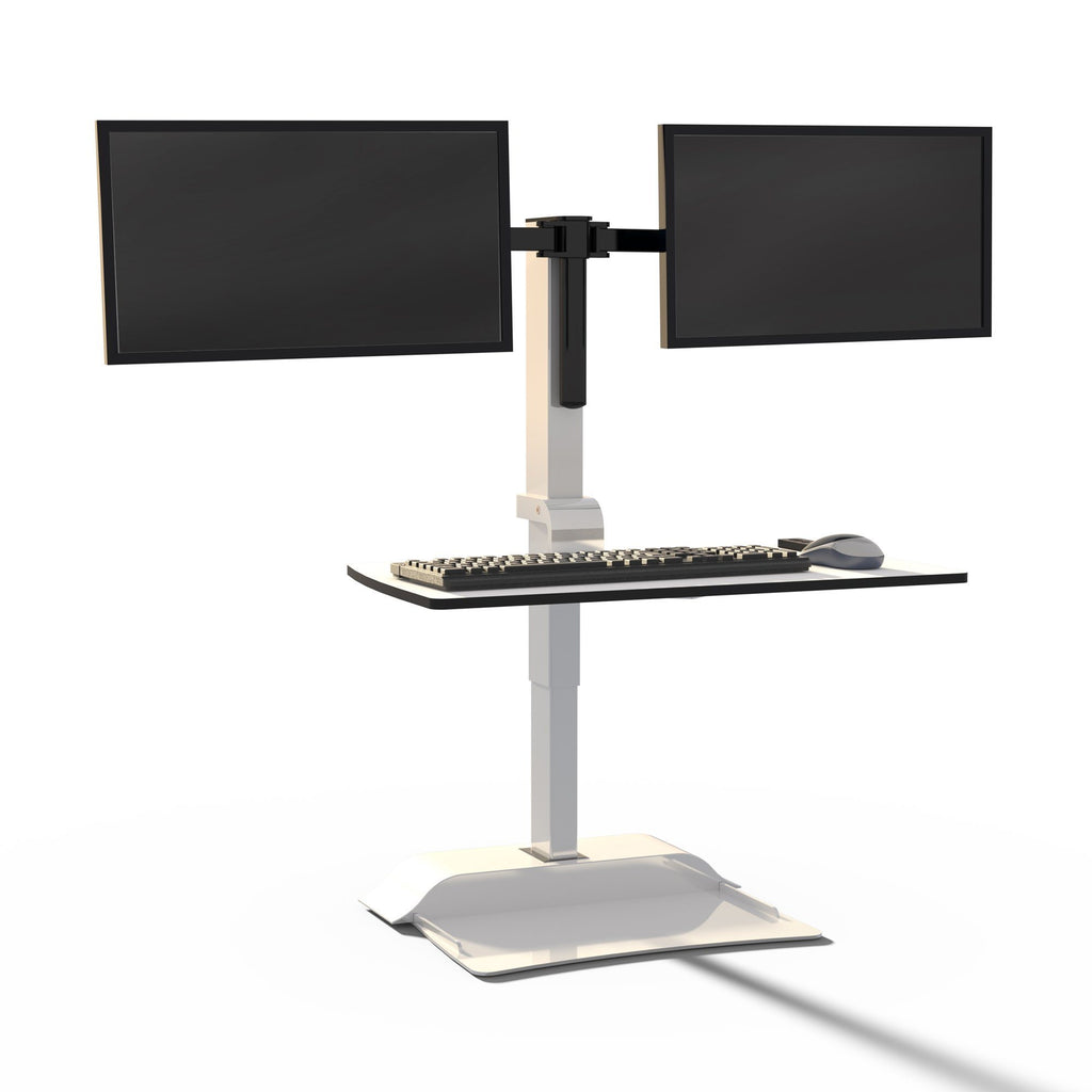 Safco sit-stand desk unit with suspended keyboard Fitneff United States