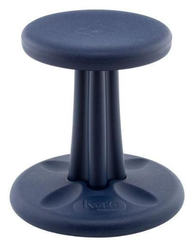 "Dark Blue Kore Kids Wobble Chair 14"" Fitneff United States"