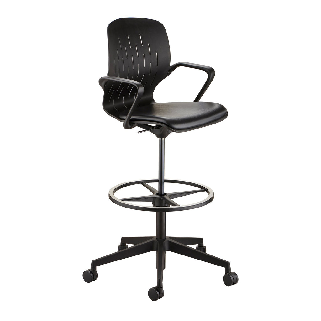 Safco Shell™ Extended-Height Chair Black Model # 7014BL by Fitneff United States