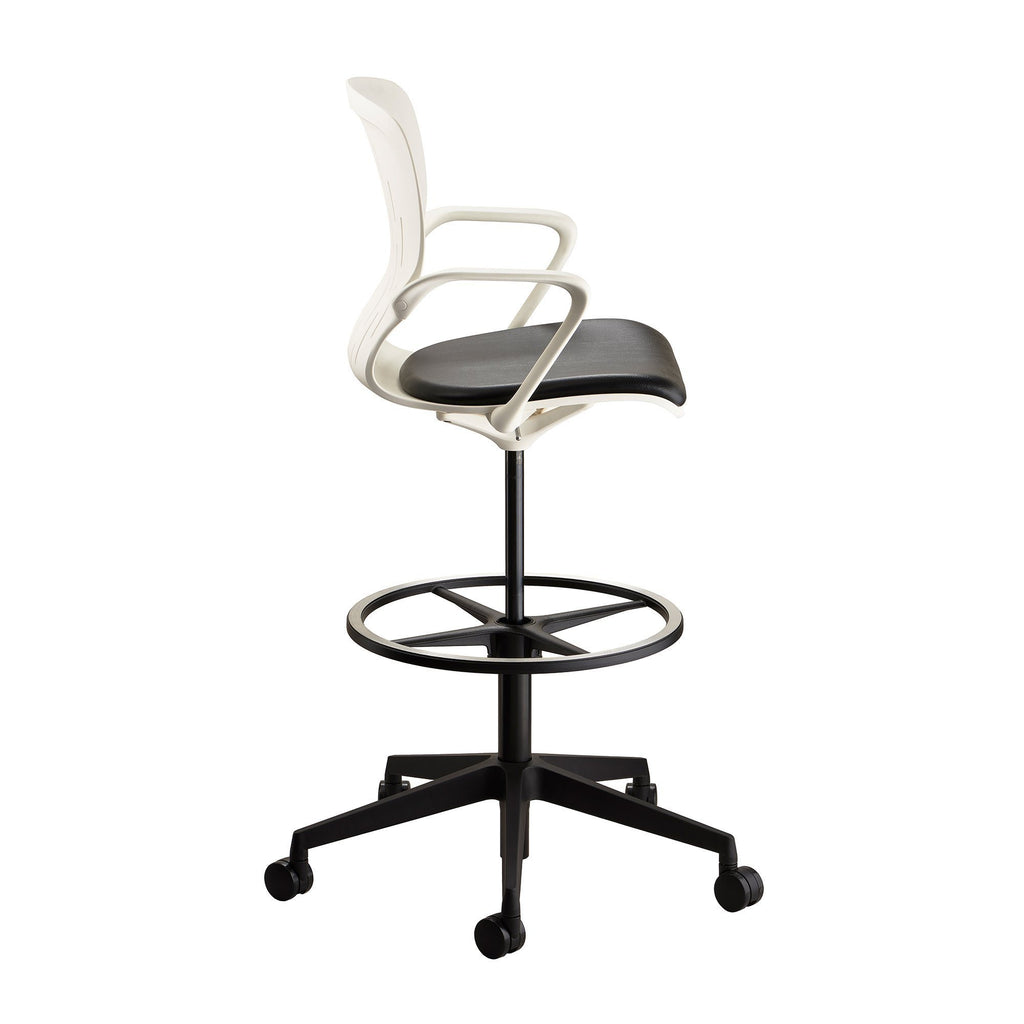 Safco Shell™ Extended-Height Chair Model # 7014WH Side View 2 by Fitneff United States