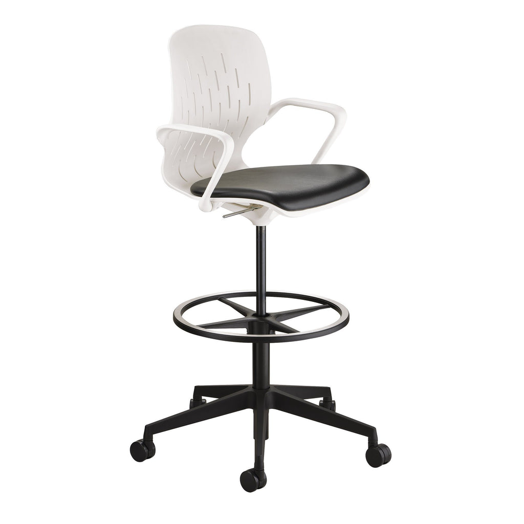 Safco Shell™ Extended-Height Chair Model # 7014WH Side View by Fitneff United States