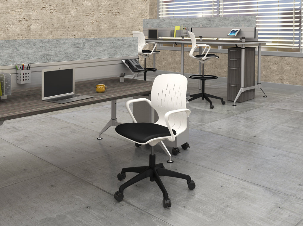 Safco Shell™ Extended-Height Chair Model # 7014WH Office Space 2 by Fitneff United States