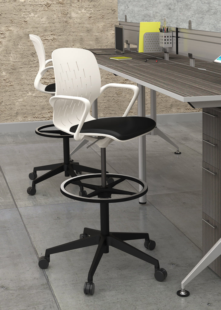 Safco Shell™ Extended-Height Chair Model # 7014WH Office by Fitneff United States