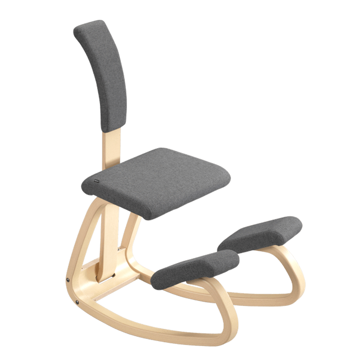 Varier Variable balans ergonomic Active Stool with padded backrest from Fitneff United States