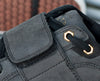 Dice Black Clipless Bike Shoe | DZRshoes - closeup