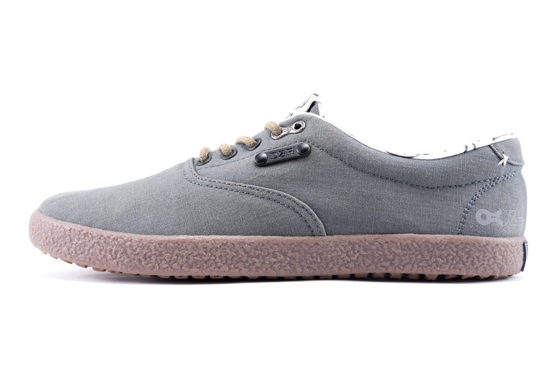 Shift Grey Flat Pedal Shoe | DZRshoes - side and bottom view