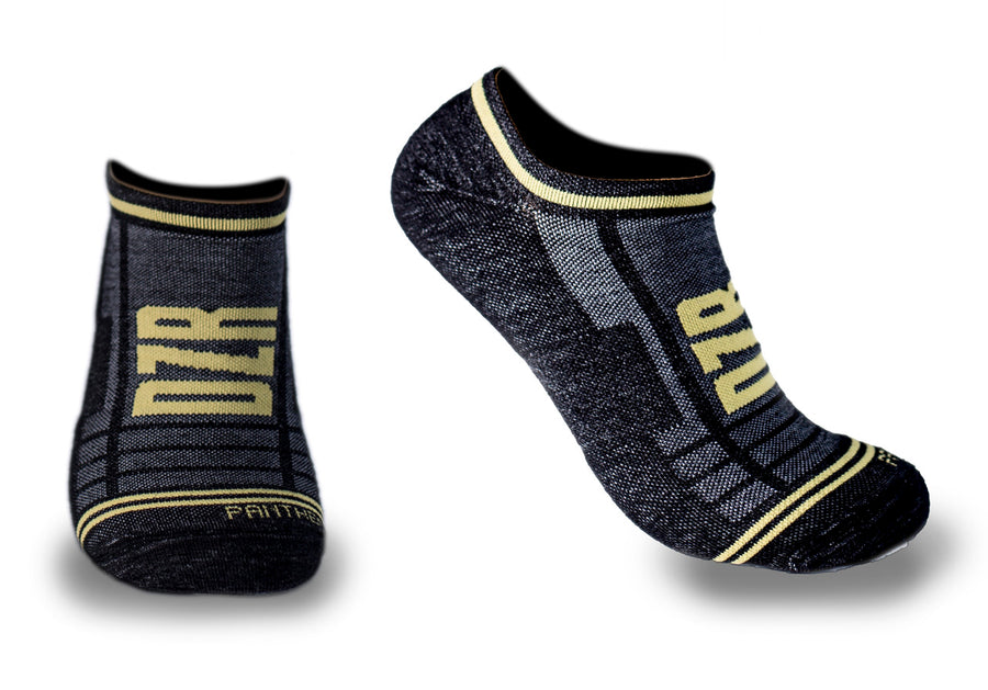 Wool No Show Cycling Socks - Panther Black