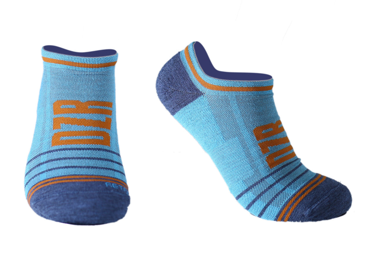 No Show Socks - Retro Blue