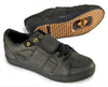Dice Black Clipless Bike Shoe | DZRshoes - bottom with spd and side view