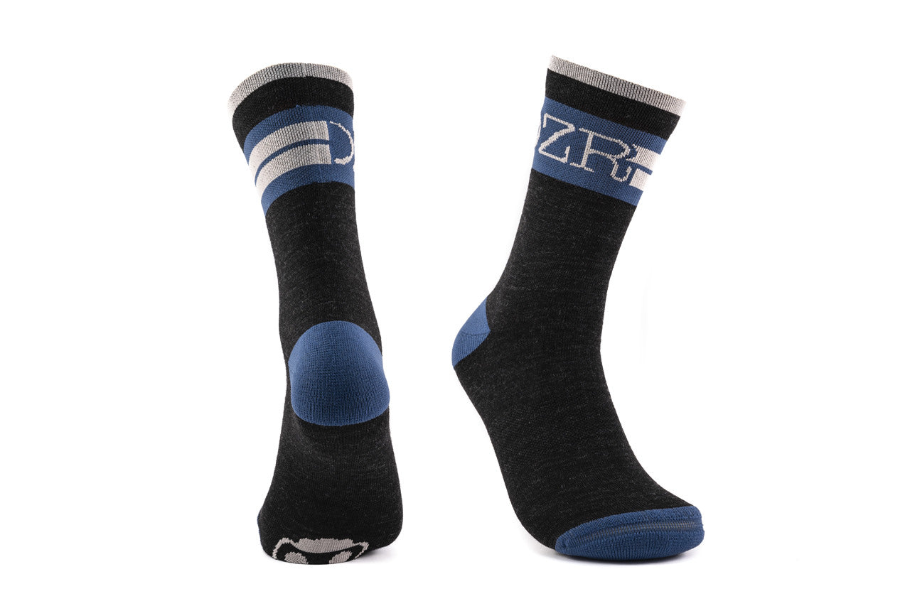 Wool Socks -Black/Navy