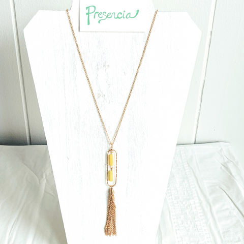 Jezabell Necklace in Yellow