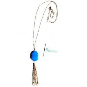 Serina Blue Gemstone Necklace