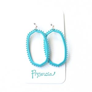 Mia Earrings in Aqua