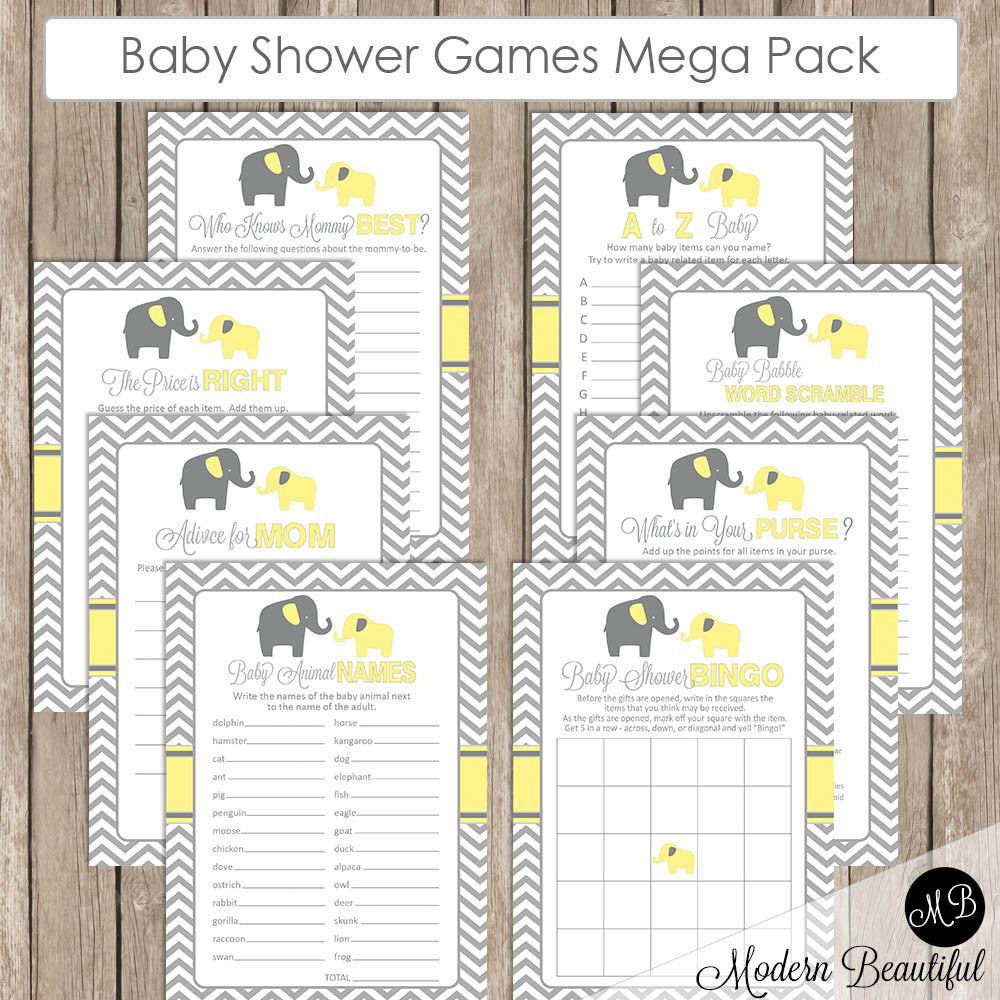 Baby Shower Game Packs
