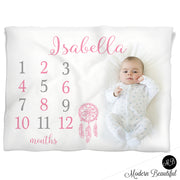 girl dreamcatcher baby blanket