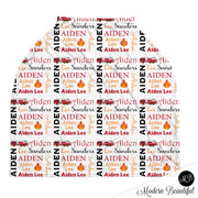 Firetruck baby boy or girl car seat canopy cover, fireman baby gift, red and orange, custom infant car seat cover, personalized baby name carseat cover, nursing privacy cover, shopping cart cover, high chair cover (CHOOSE COLORS)