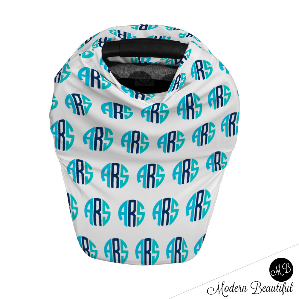 custom monogram infant car seat cover