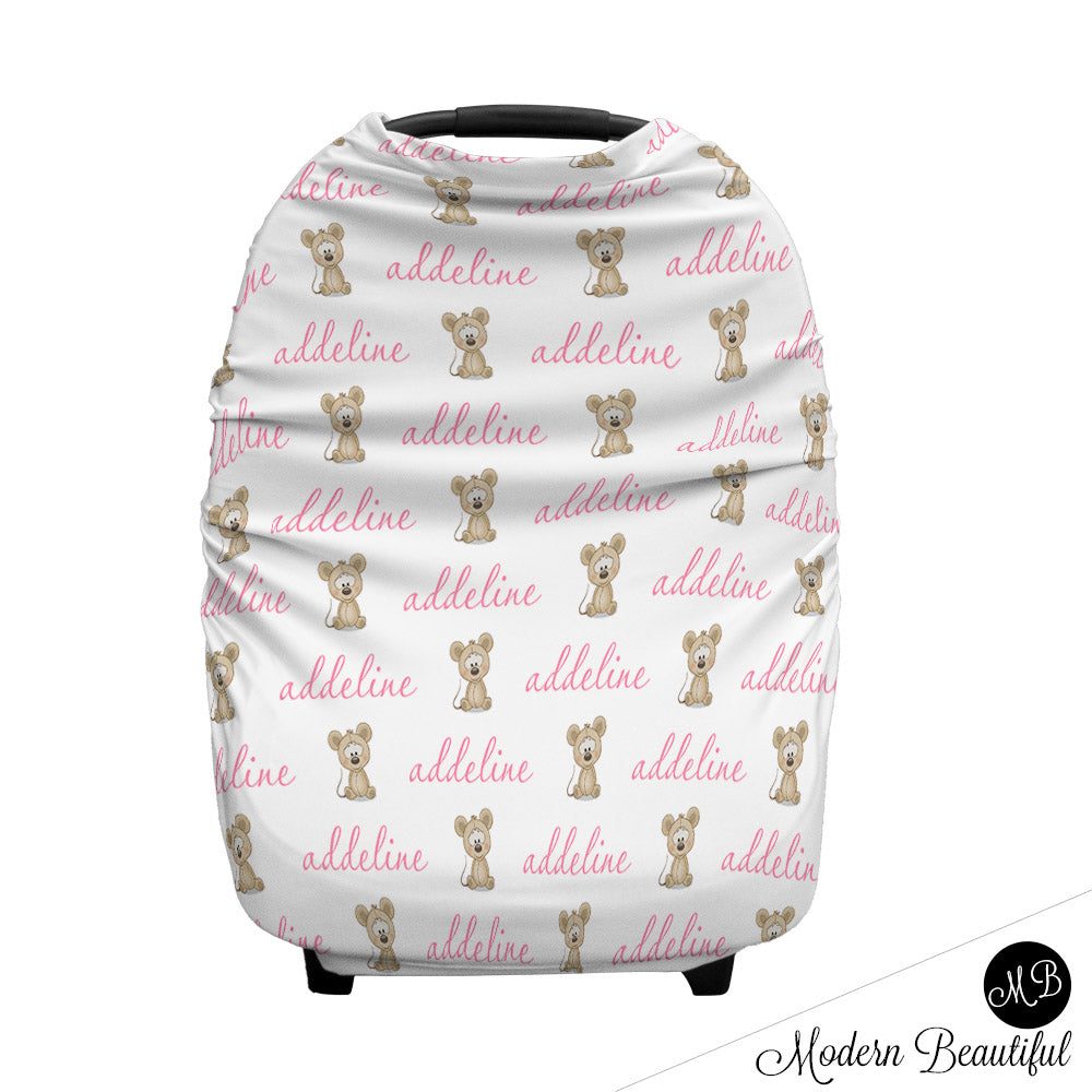 Mouse Baby Boy Or Girl Car Seat Canopy Covers Mouse Baby Gift