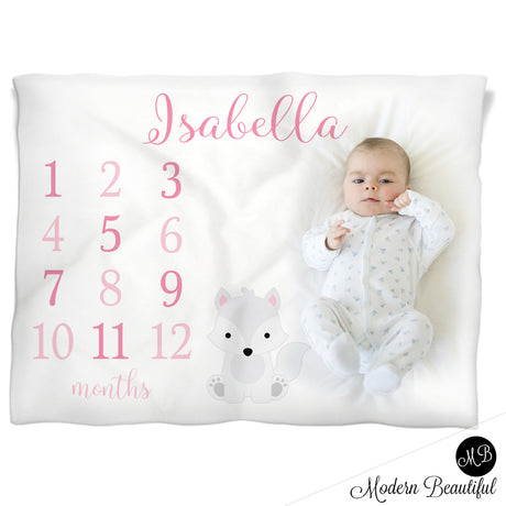 wolf baby girl name blanket