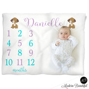 puppy baby girl name blanket