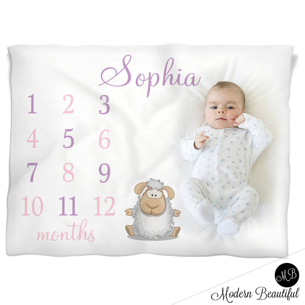 sheep baby girl blanket