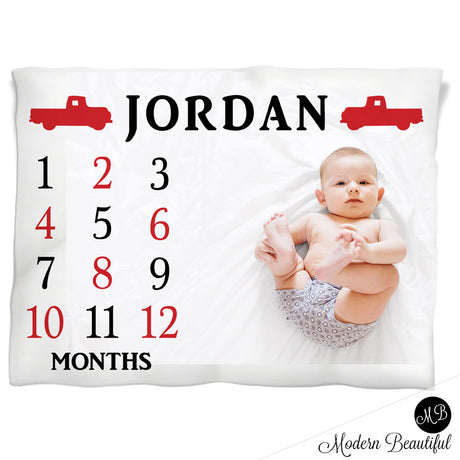 chevy truck baby name blanket