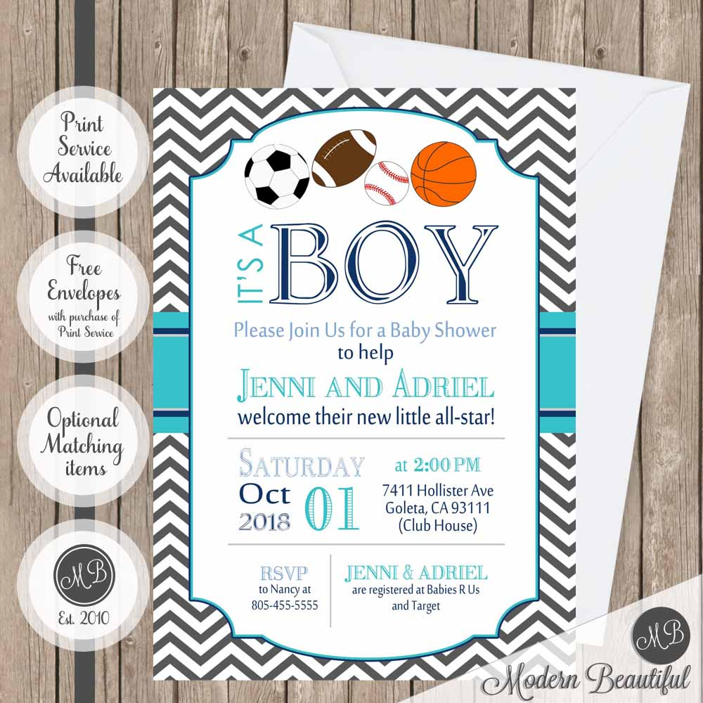 all star baby shower invitations