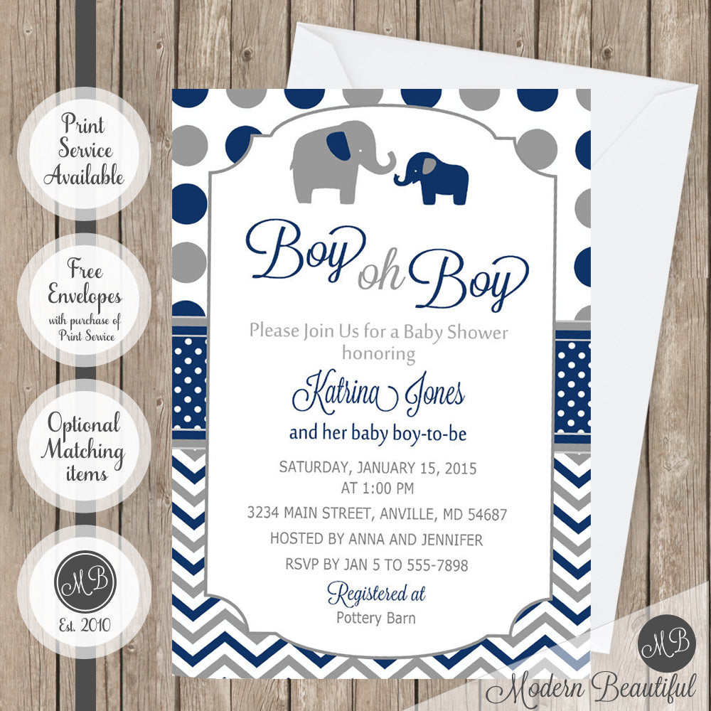 girl of elephant shower invitation purple baby invitations