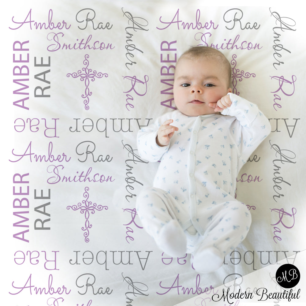 christening baby girl gift blanket