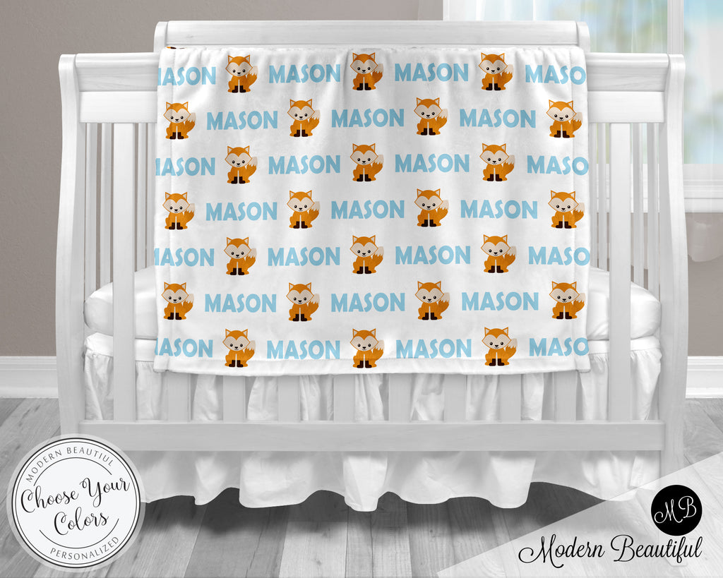 fox baby boy blanket