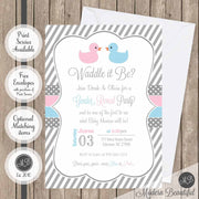 waddle it be gender reveal invitations
