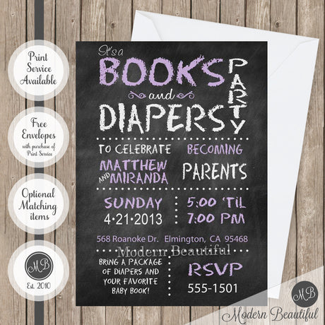 books baby shower invitations