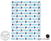 Motocross dirt bike baby boy blanket, blue and black motocross name blanket, custom dirt bike personalized baby gift, swaddle baby blanket, personalized blanket, boy or girl blanket, choose colors
