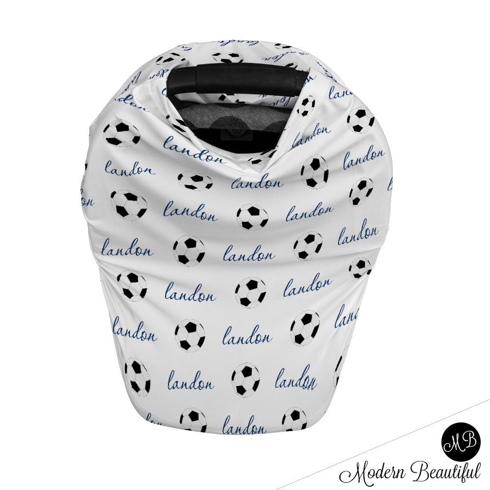 Soccer Baby Boy Or Girl Car Seat Canopy Covers Soccer Baby Gift