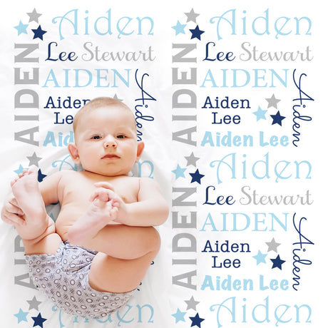 baby boy star name blanket