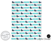 Whale baby boy blanket, aqua and black, whale baby name blanket, custom whale personalized baby gift, swaddle baby blanket, personalized blanket, boy or girl blanket, choose colors