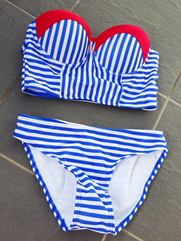 Image result for sailor bikini stripe