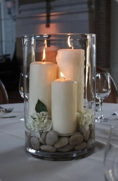 5 alternativas de decoración con Velas para Boda 11