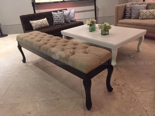 Banca Imperial Beige con Base Chocolate. AlkilaEvent