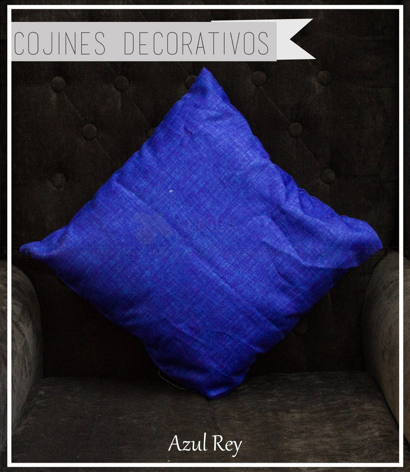 Cojín Decorativo color Azul Rey (42cm x 42cm)